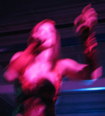 Storm Large in motion 1 at Red Dress PDX Party 2008