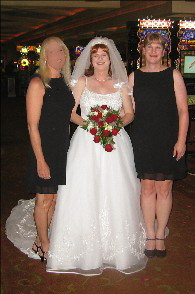 Kim with her Maid of Honor (Tami) and Bridesmaid (Kimberly/KAT)